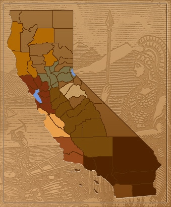 California Councils of Governments map